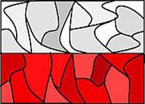 Flaga - witraż